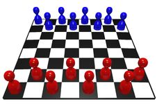 Pawn chess game Stock Image