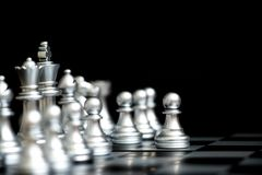 Pawn in chess game in the first move step Stock Images