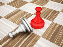 The pawn chess piece Royalty Free Stock Photos