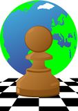 Pawn on the chessboard Stock Photography