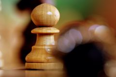 The Pawn on Chessboard Stock Photography