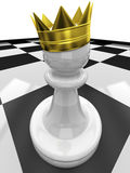 Pawn with a crown Stock Photo