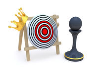 Pawn  crown target Stock Images
