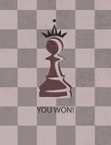 Pawn in crown. Vector chess pawn with a crown Stock Photos