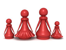 Pawn family Stock Photos