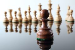 Pawn in front Royalty Free Stock Image