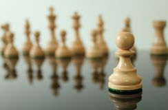 Pawn in front Royalty Free Stock Photo