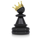 Pawn with gold crown Royalty Free Stock Image