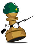 Pawn in a helmet. Vector illustration of a pawn in a helmet Stock Image