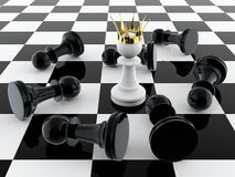 Pawn king Stock Photo