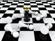 Pawn king Stock Image