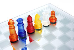 Pawn leader. A game of chess comes to an end. The king is checkmated Royalty Free Stock Image