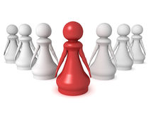The pawn leader Royalty Free Stock Photos