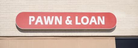 Pawn and Loan Shop. A Pawn and loan Shop is a buy, sell, trade and consignment shop business Royalty Free Stock Photos