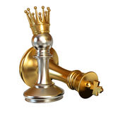 Pawn puts checkmate Royalty Free Stock Photos