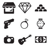Pawn Shop Icons Royalty Free Stock Image