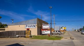 Pawn shop at Route66 in Oklahoma - STROUD - OKLAHOMA - OCTOBER 16, 2017 Stock Photos