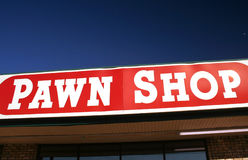 Pawn Shop Sign. With Blue Sky Stock Images