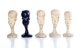 Pawn showing individuality or discrimination Stock Photo
