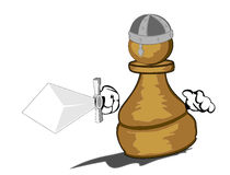 Pawn with sword. Vector illustration pawn with sword in action Stock Photography