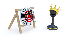 Pawn and target Stock Photos
