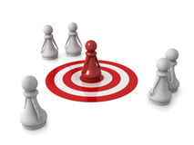 Pawn target Royalty Free Stock Photo