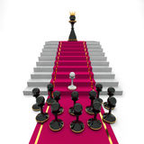 Pawn to queen. Success or captivity Stock Photos