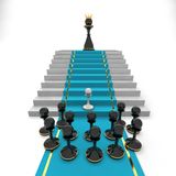 Pawn to queen Stock Photography