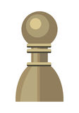 Pawn Vector Illustration in Flat Style Design. Pawn vector in flat style. Wooden or plastic chess figure. Chessman. Board game. Intellectual sport. Illustration stock illustration