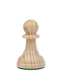 The pawn. Wooden chess piece Stock Image