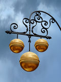 Pawnbroker Shop. Sign with three golden balls Stock Photography