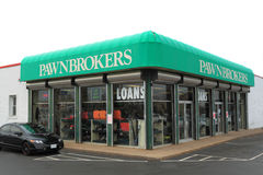 Pawn Shop. Or Pawnbrokers on White Background Stock Photos