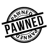 Pawned rubber stamp Royalty Free Stock Photo