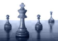 pawns белизна ферзя Стоковые Фото