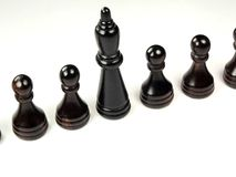 Pawns. A series of pawns as though employees, or sameness Stock Photo