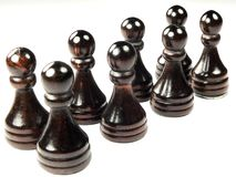 Pawns. A series of pawns as though employees, or sameness Stock Photos
