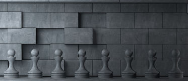 Pawns is ancient style Stock Image