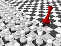 Pawns attacking king Royalty Free Stock Images