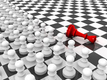 Pawns attacking king Stock Image