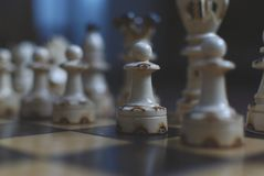 Pawns in chess 2 royalty free stock photo