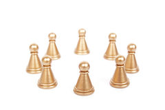 Pawns in a circle Stock Photos