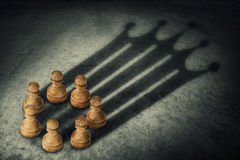 The pawns crown Royalty Free Stock Photo
