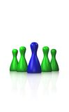 Pawns on a glass floor Royalty Free Stock Photos