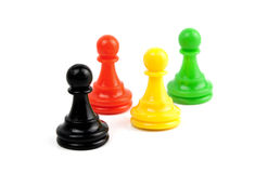 Pawns isolated Stock Image