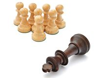 Pawns and king Royalty Free Stock Image