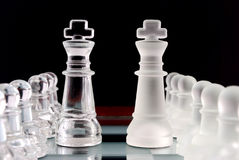 Pawns and kings. Royalty Free Stock Photography