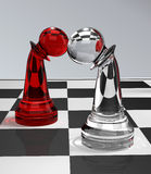 Pawns In Love. 3d illustration of chess-pawns in love Royalty Free Stock Photography
