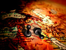 Pawns in middle east stock illustration