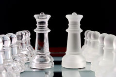 Pawns and queens Stock Photos