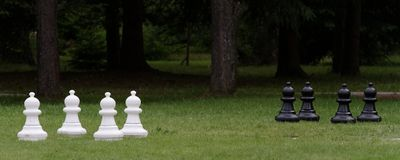 Pawns ready for battle. Stock Images